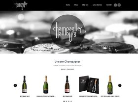 Champagner Hamburg – <br />Website und Shop