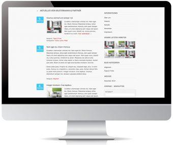 Blogfunktionen für Aktuelles