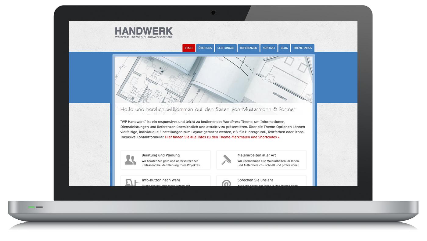 Wordpress Theme Handwerk Fur Handwerksbetriebe Und Freiberufler