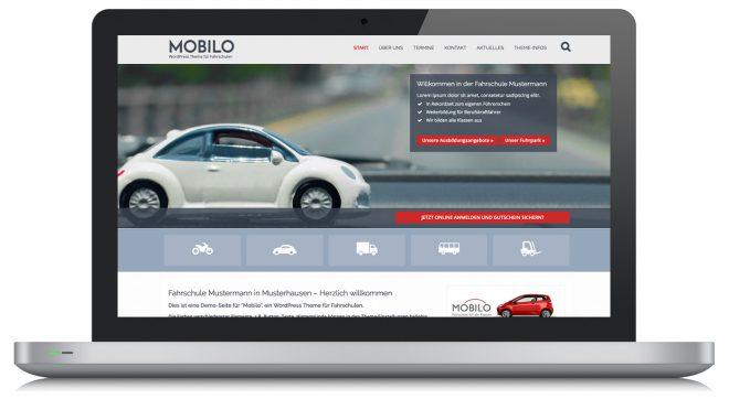 Mobilo WordPress Theme für Fahrschule
