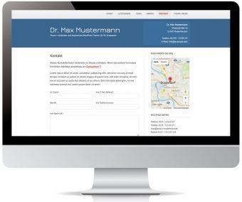 Kontaktseite mit Formular und Standort auf Google Map