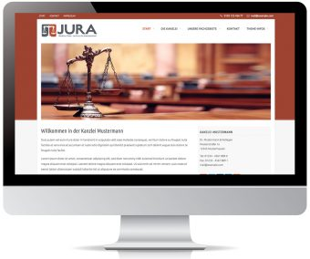 Jura WordPress Theme für Kanzleien