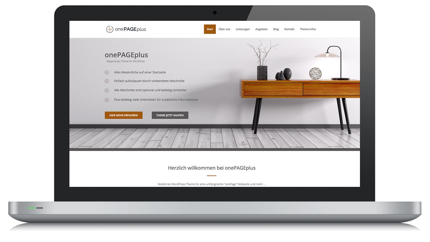 onePage Webseite
