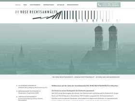 Dr. Rose Rechtsanwälte <br />Website Relaunch