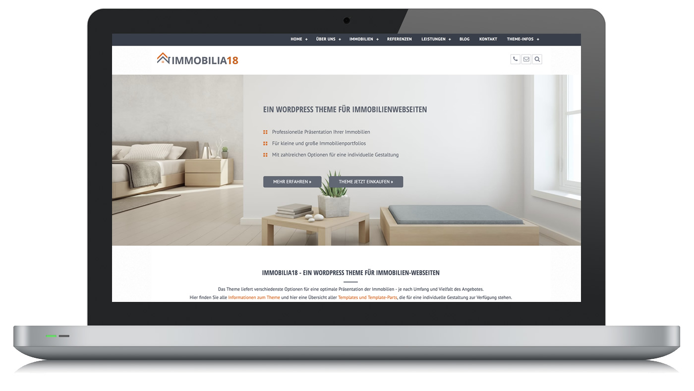 WordPress Theme Immobilia