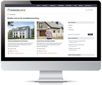 Immobilia18 - WordPress Theme für Immobilienwebseiten