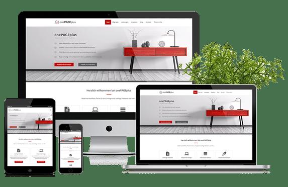 onePAGEplus - WordPress Theme für onePage Webseiten