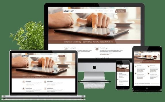 StartUp - WordPress Theme für alle Geschäftsideen