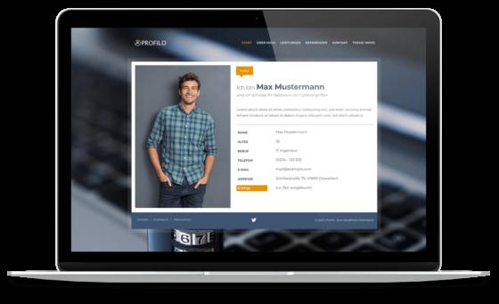 BO Profilo - WordPress Theme für Web-Visitenkarten