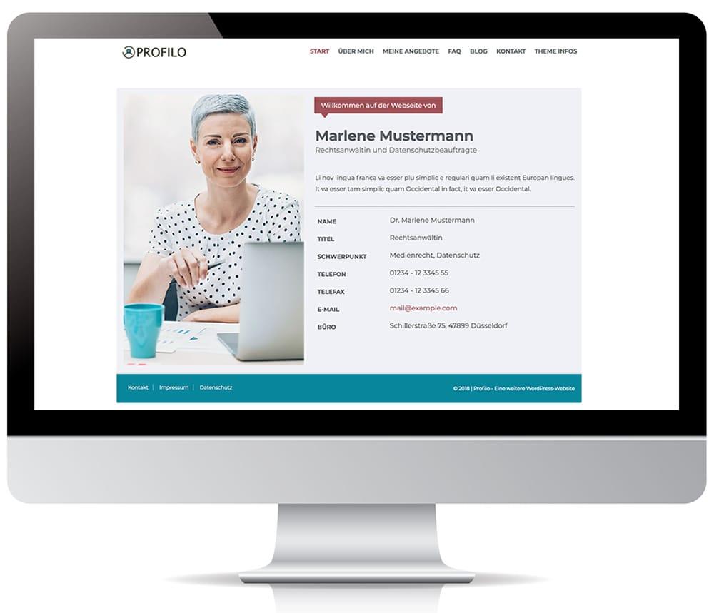 Profilo Web Visitenkarte Theme Für Wordpress 5 0