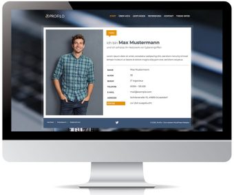 Profilo - WordPress Web-Visitenkarte