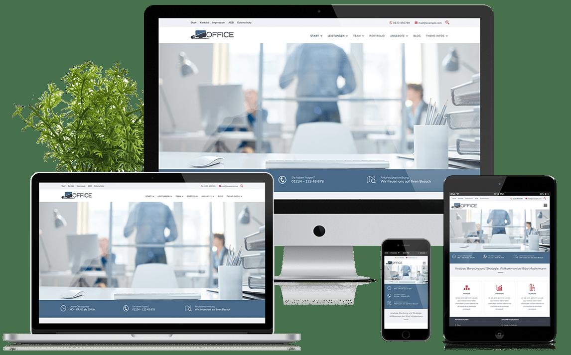 Office - WordPress Theme für alle Unternehmen