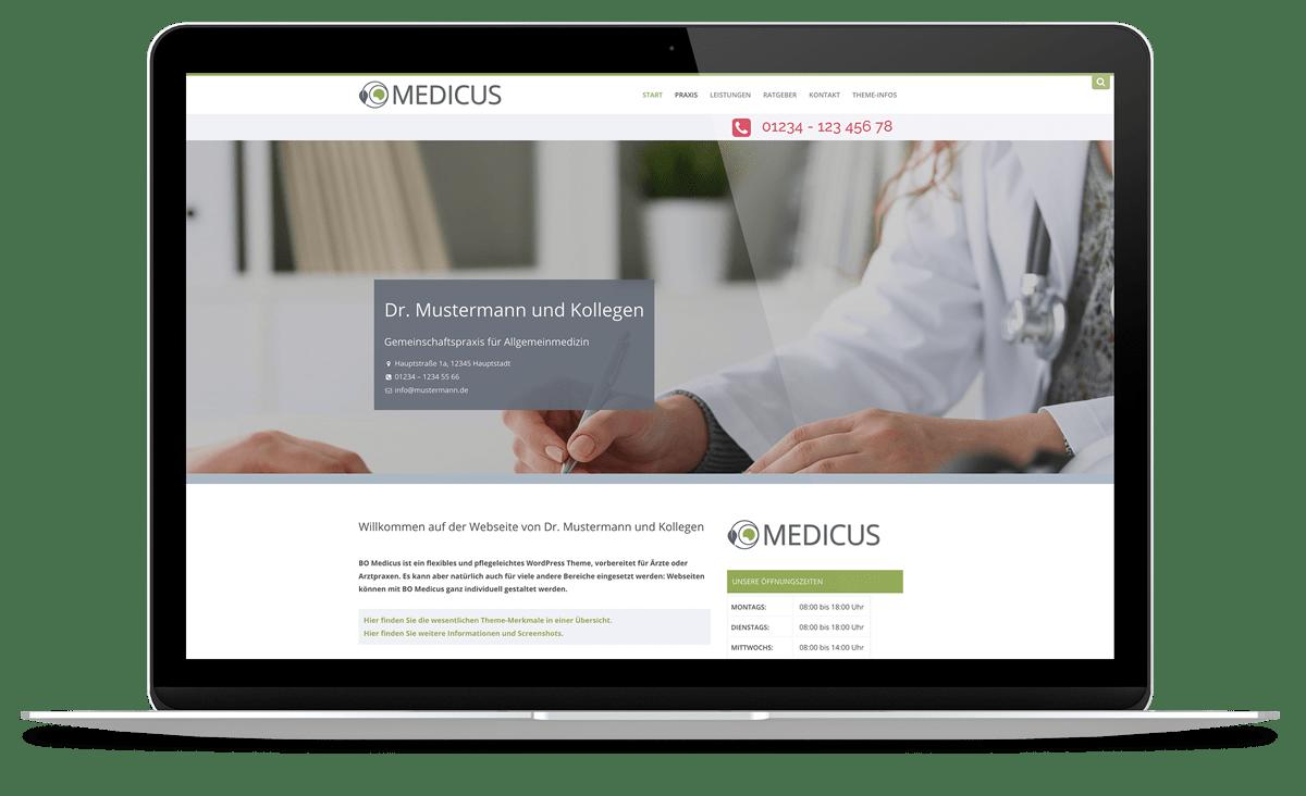 WordPress Theme (nicht nur) für Arztpraxen