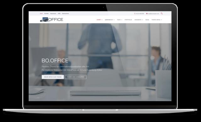 BO Office - WordPress Theme für Unternehmenswebseiten
