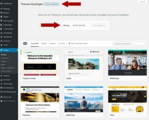 WordPress Theme installieren