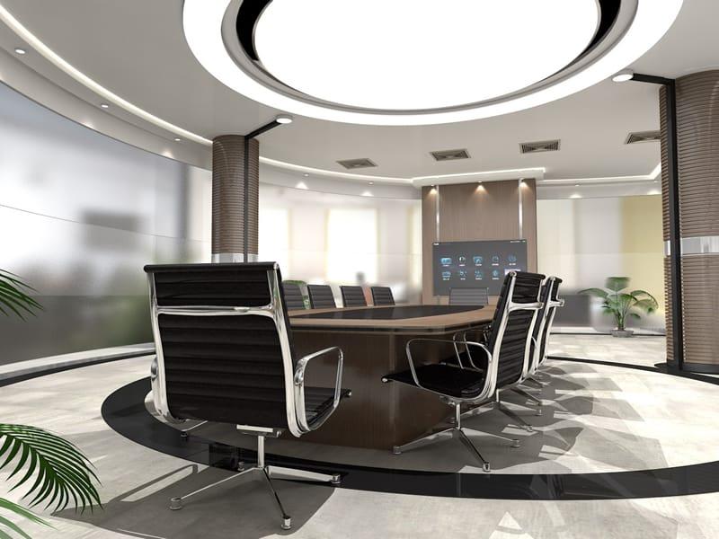 Lichtinstallation Konferenzraum